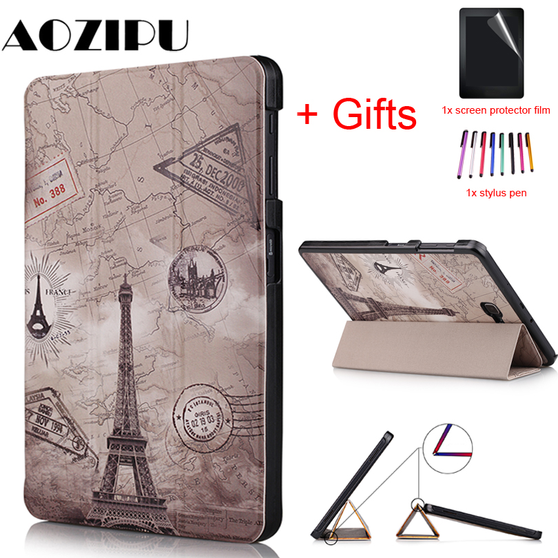 Smart Magnetic Case for Samsung Galaxy Tab A 10.1 2016 T580 <font><b>T585</b></font> SM-T580 SM-<font><b>T585</b></font> Funda Stand Protective Cover +Film+Pen image