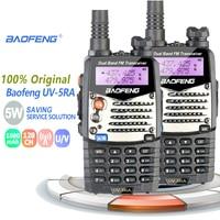 מכשיר הקשר dual band 2pcs Baofeng UV-5RA מכשיר הקשר 5W Dual Band VHF UHF Walky טוקי מקצועי ציד רדיו Baofeng UV-5R Wolki רדיו ברשת (1)