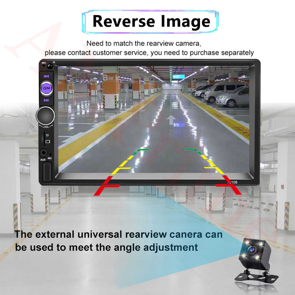 "AMPrime Universal 2 Din Mobil Multimedia Player Autoradio 2din Stereo 7 ""Layar Sentuh Video MP5 Pemain Auto Radio Backup kamera"