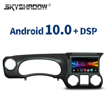 "9"" DSP Android 10.0 2G + 32G Car DVD Player GPS Map WIFI Bluetooth RDS Radio For  Jeep Wrangler 2011 2012 2013 2014 2015 2016"