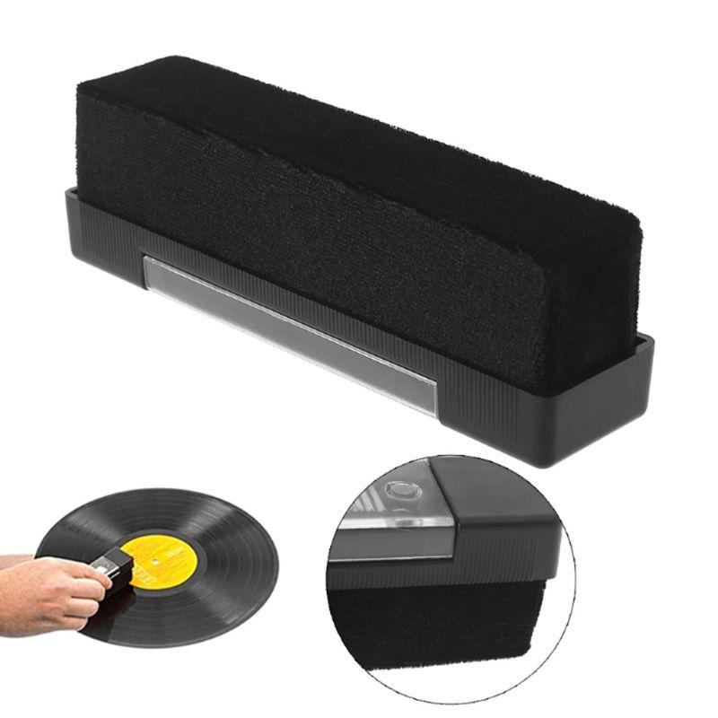 1 Set Carbon Fiber Velvet Anti Static Cleaning Brush For LP Vinyl Records Tools