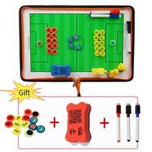Placa tática para futebol e basquete, com zíper, placa dupla face pu material de futebol, três dobras