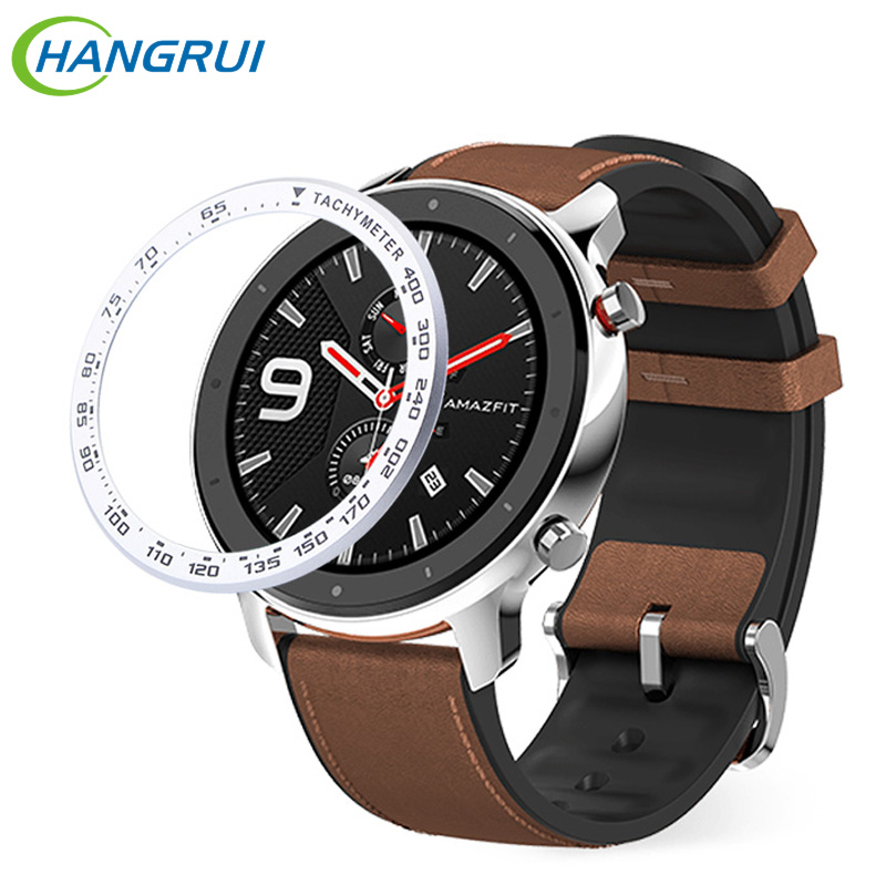 Stainless Steel Tachymeter Case For Xiaomi Amazfit GTR 47MM Watch Bezel Ring Bezel Ring Dial Scale Speed Protective Case