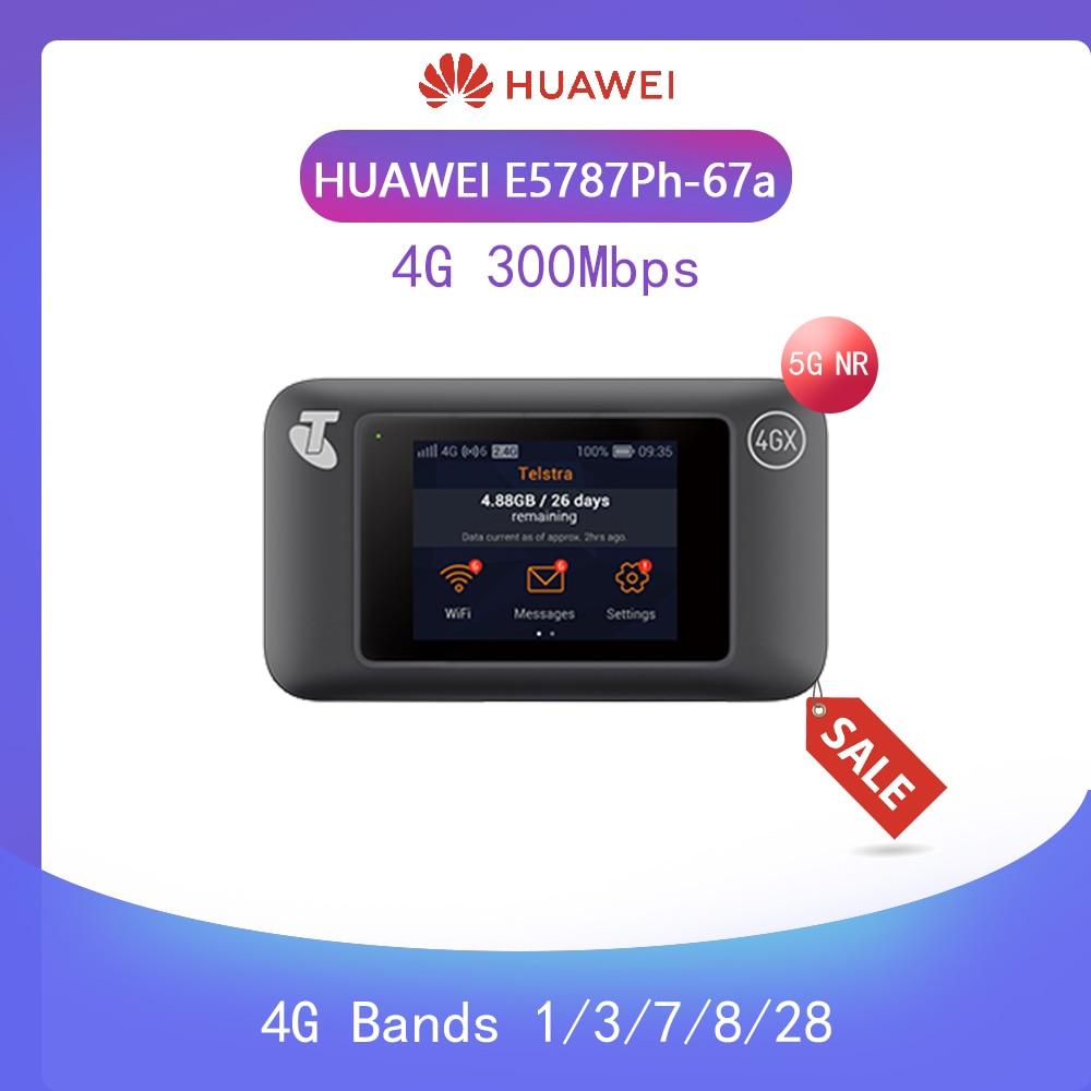 Unlocked Huawei E5787 E5787Ph-67a LTE Cat6 Mobile WiFi Hotspot 3000mAh Battery +2PCS ANTENNA