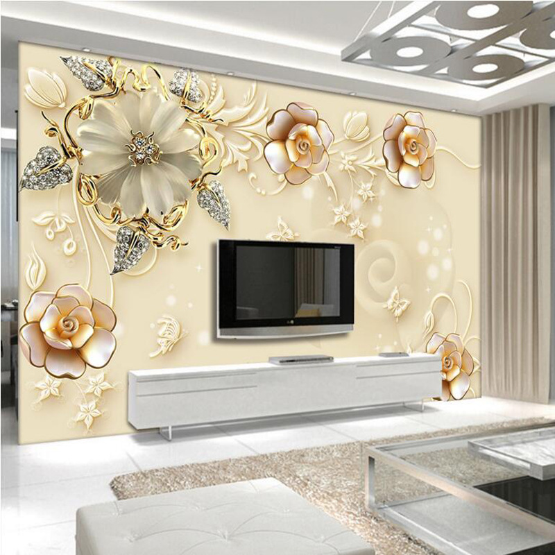 European Style Living Room Television Background Wall Wallpaper Mural Seamless Nonwoven Fabric TV Wall Jewelry 3D Wallpaper