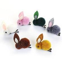 Дети милый ягненок фетр трехмерные кроличьи волосы кольца заколки плюшевый кролик с ушами конский хвост держатель эластичные заколки для волос