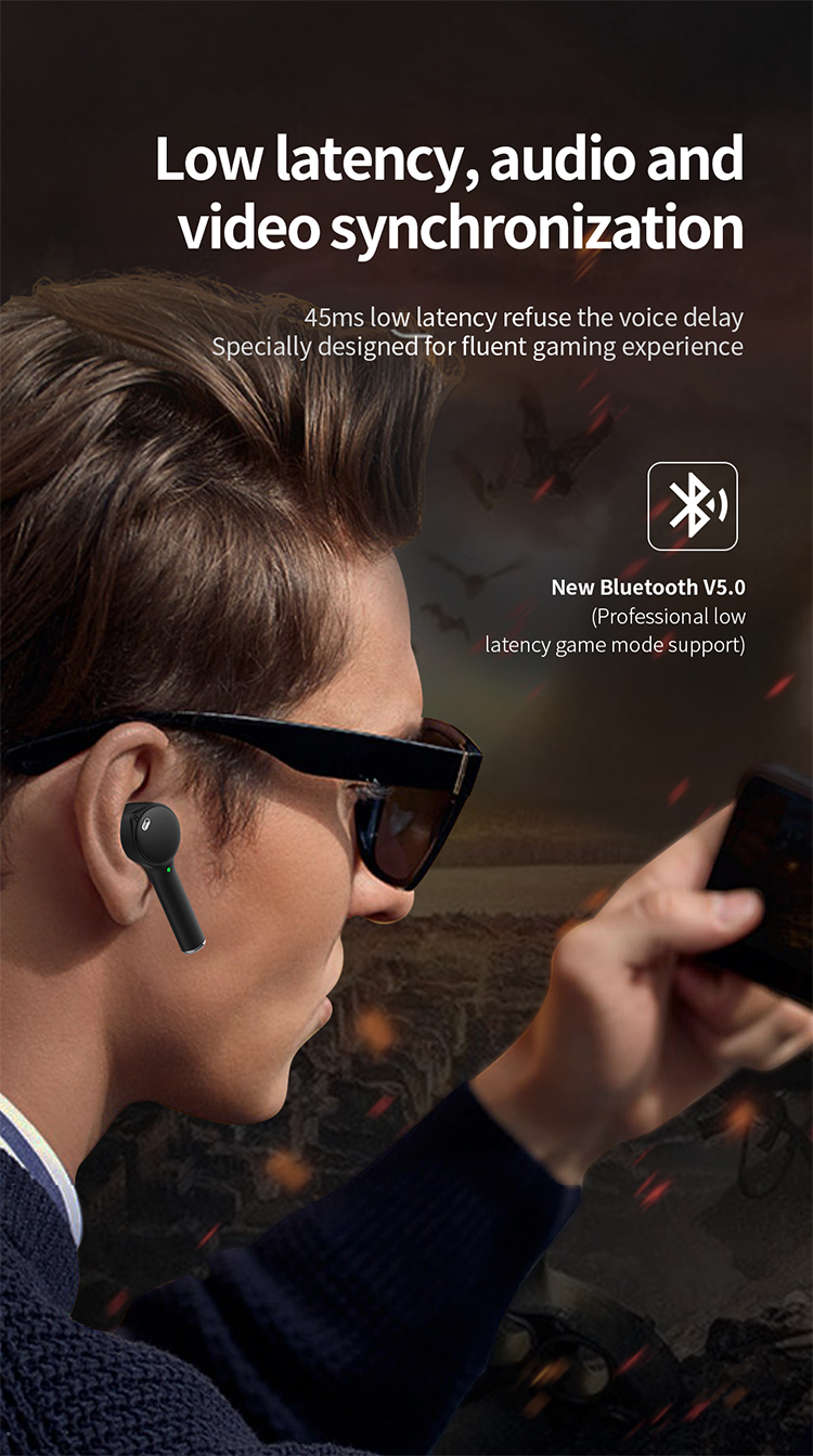 Premium n8g gaming fones de ouvido tws