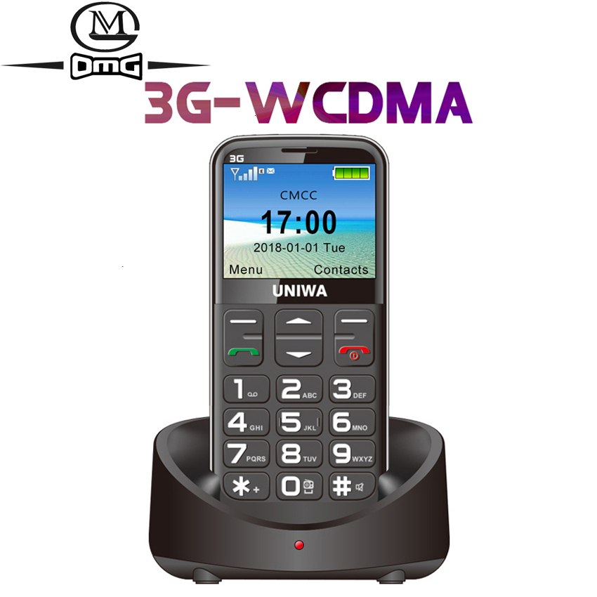 WCDMA 3G Russian Keyboard Old Man Mobile Phone SOS Button 1400mAh Battery 2.31