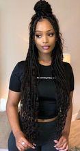 Extensiones de Cabello sintético para mujer, pelo trenzado de 14 y 18 pulgadas, pelo de imitación con diseño de diosa ombré, de ganchillo, textura suave y preestirado, venta al por mayor