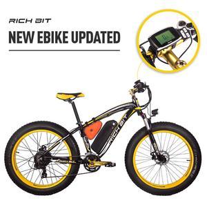 Image 4 - RichBit Electric Bike Powerful Fat Tire Electric Mountain Bike 48V 17AH 1000W eBike Beach Cruiser 21 Speed Electric Snow Bicycle
