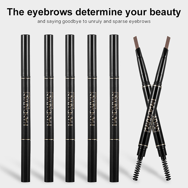 Eyebrow Pencil 2 in 1 Auto Waterproof Eye Makeup Brow Shades Brush Maquillaje Sombrancelha Long Lasting Eyebrow Pencil 6