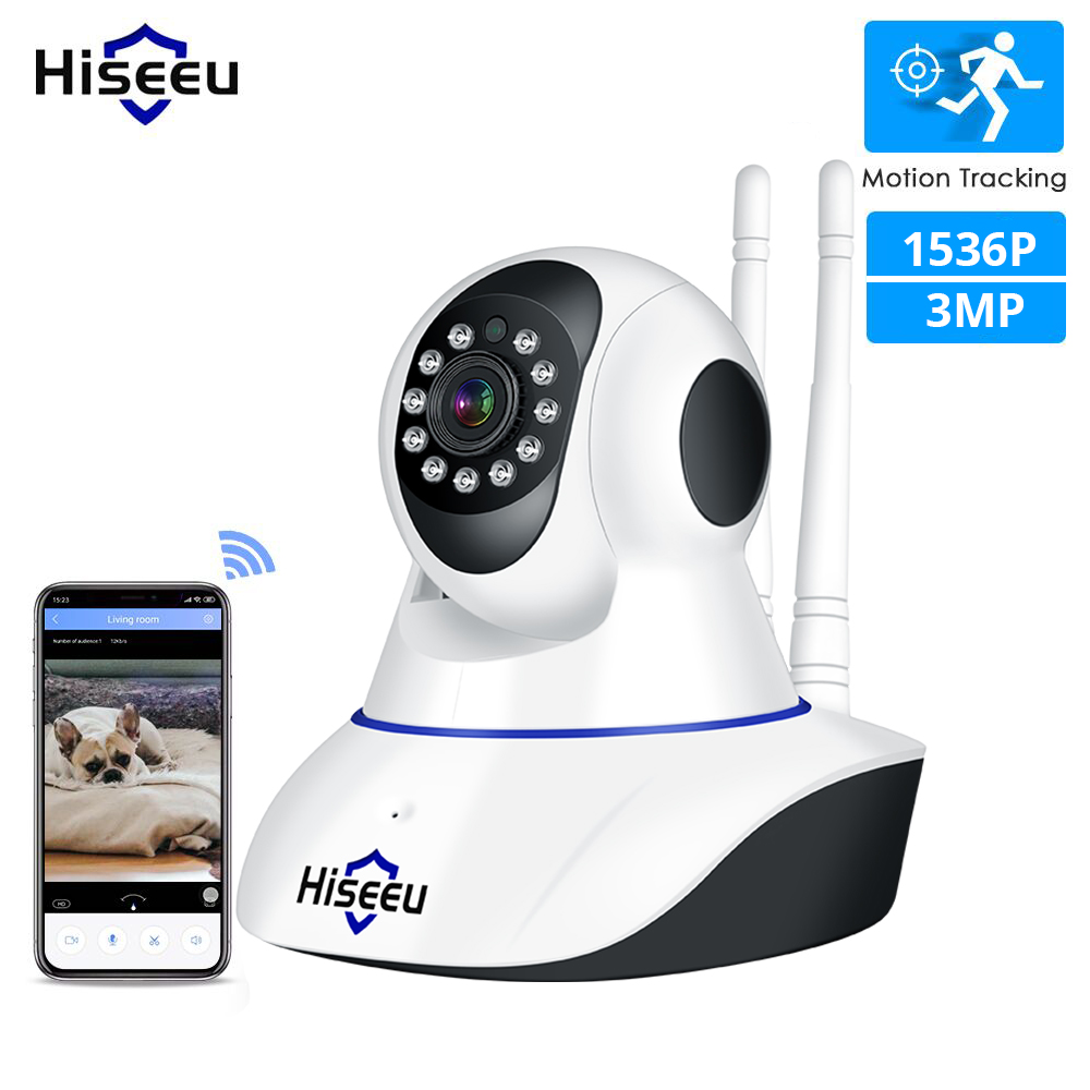 Hiseeu 3MP 2MP IP Camera Wireless Home Security Camera Wifi 1080P 1536P Two-Way Audio CCTV Video Surveillace Baby Monitor Yoosee