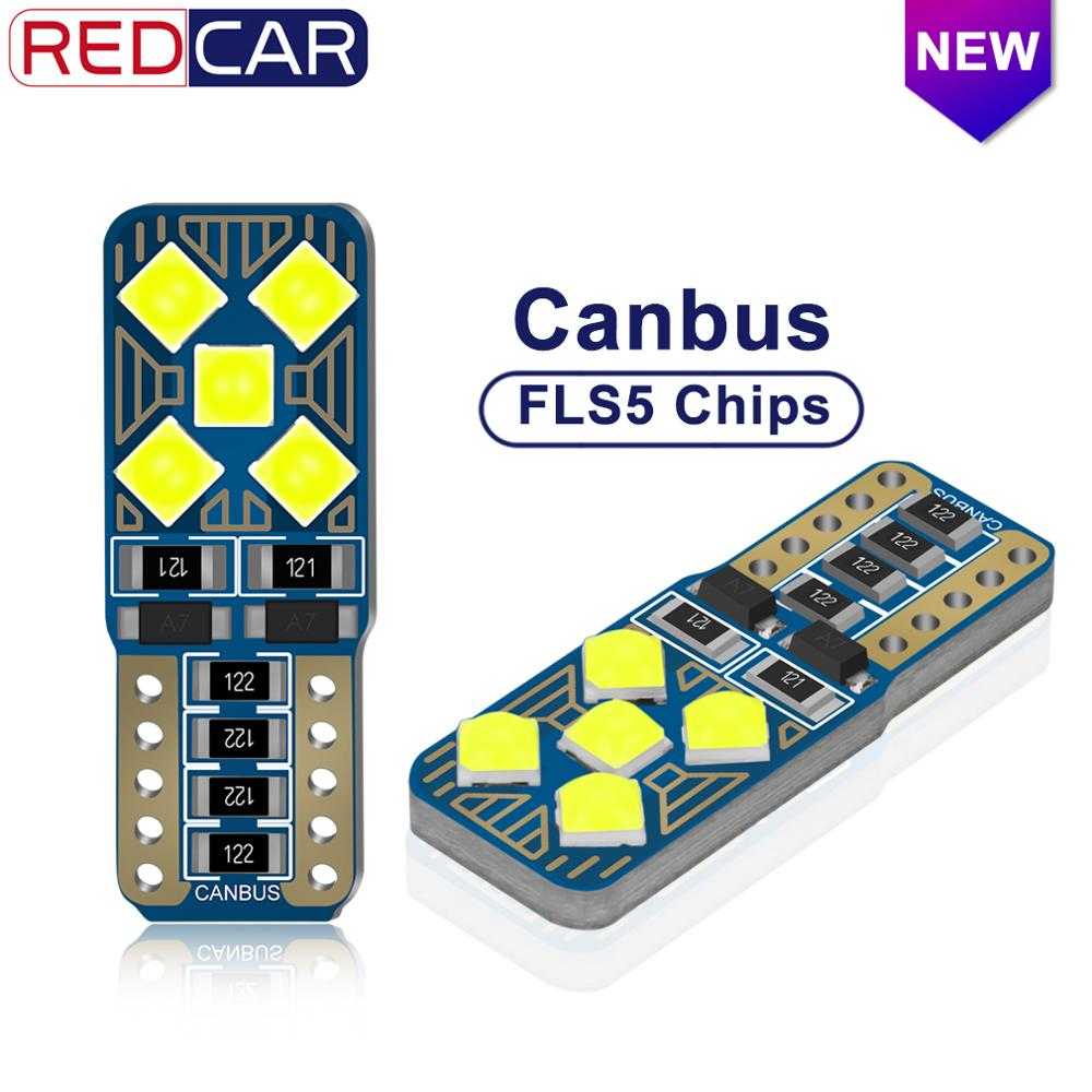 2pcs T10 192 194 168 W5W LED Bulbs FLS35 Chips Canbus Error Free Super Bright Dome Lights Auto Marker Lamps Wedge Clearance Bulb