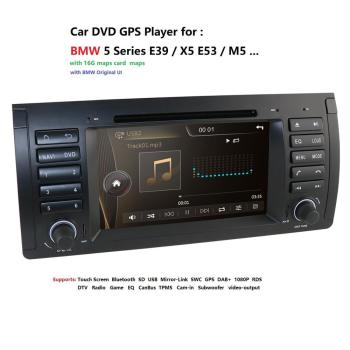 Car multimedia player 7Double 2Din fit BMW E39 E53 5 Series X5 M5 Car Radio GPS Nav DVD Stereo Player USB RDS DAB CANBUS MAP SD image