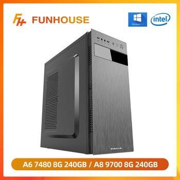 Funhouse Desktop Computer AMD APU A6 7480/A8 9600 8G RAM 240G SSD Assembly Host Full Set of High-end E-sports DIY Gaming PC