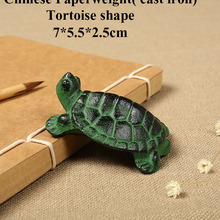 Penholder Paperweight Weight-Tortoise Cast-Iron Chinese-Calligraphy Painting-Paper
