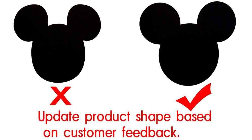 Papan Tulis Label 2.25X2 Inch Mickey Mouse Vinyl Papan Tulis Label 60 Stiker Per Pack