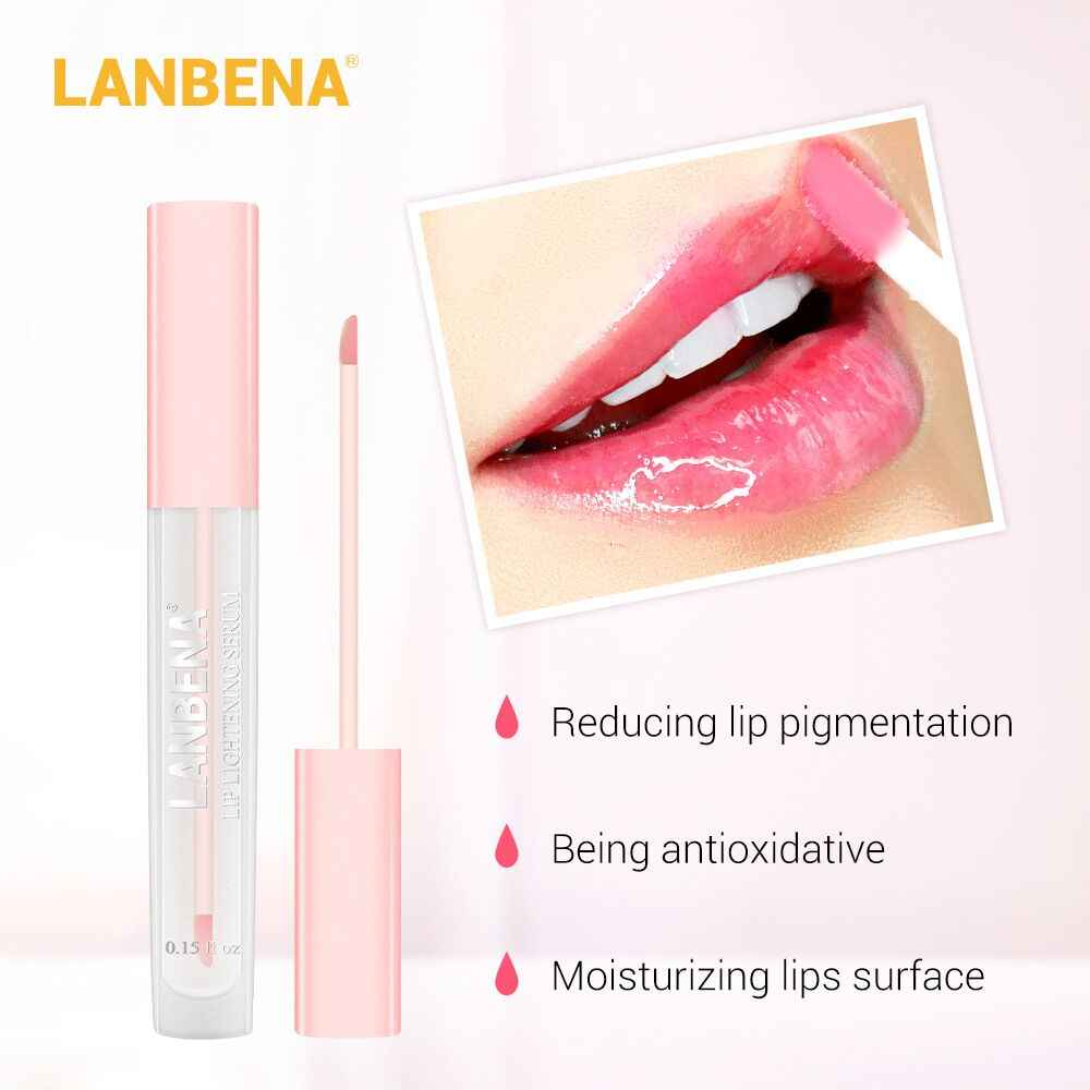 Lanbena Ciliegia Lip Alleggerimento Siero Paffuta Labbro Maschera Ridurre Le Linee Sottili Aumentare Lip Elasticità Anti Invecchiamento Idratante Labbra Cura