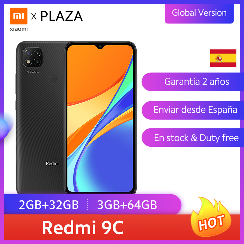 "Versión Global Xiaomi Redmi 9C Smartphone 6,53 ""pantalla HD Helio G35 Octa Core 5000mAh batería 13MP Cámara teléfono móvil"