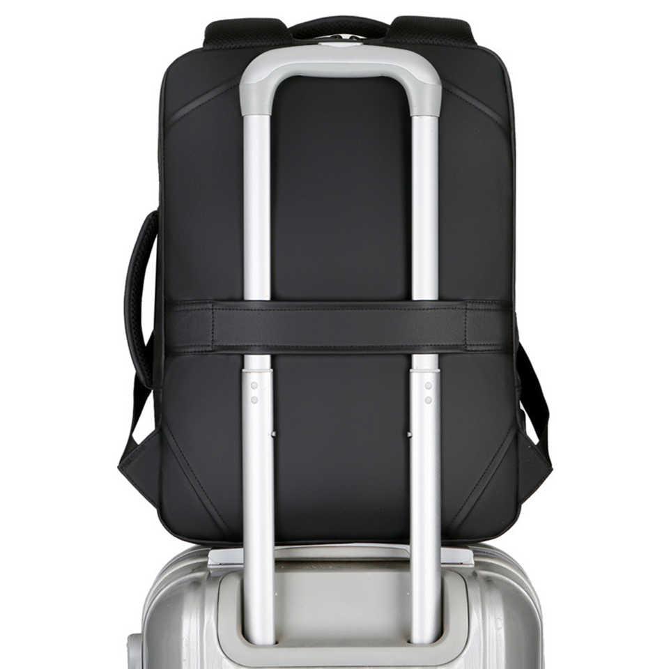 PUIMENTIUA dizüstü sırt çantası erkek erkek sırt çantaları iş not defteri Mochila su geçirmez geri paketi USB şarj çantaları seyahat sırt çantası