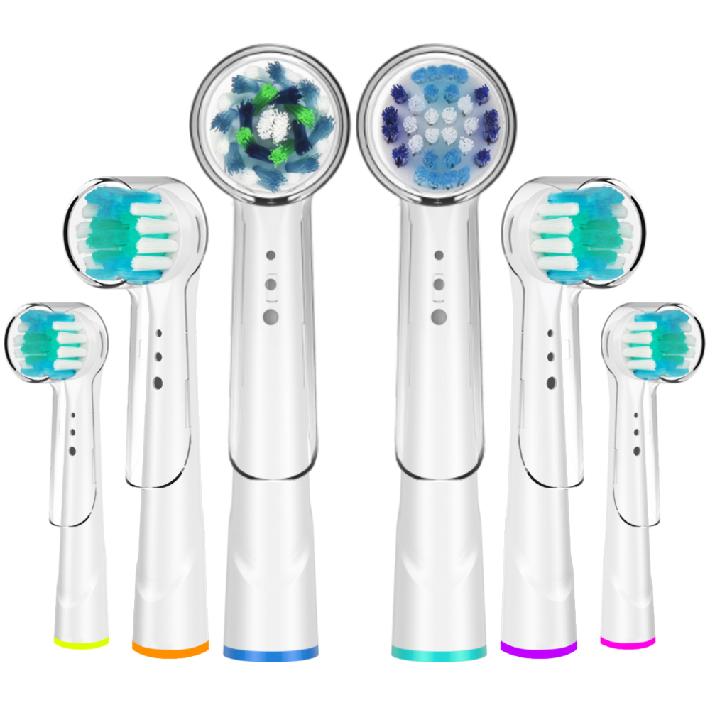 6Pcs Various Models Toothbrush Heads with Caps Replacement for Oral b Toothbrush Heads and Replaceable Brush Heads