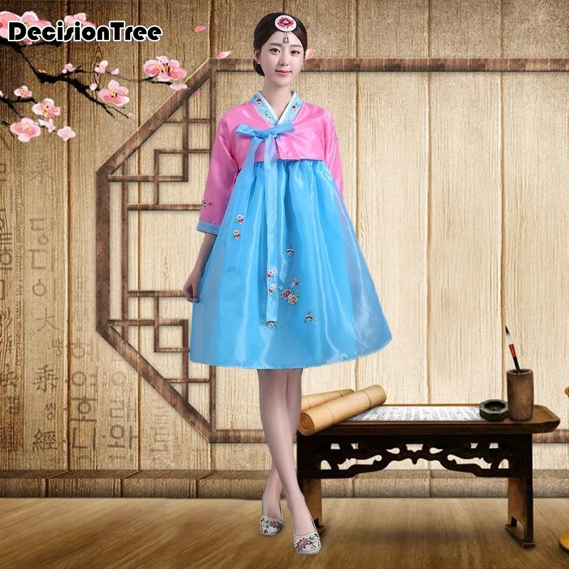 2019 Traditional Korean Costumes For Women Hanbok Tops And Blouses Court Ancient Dance Asian Dress Party Cosplay Clothing