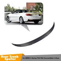 For BMW F33 Convertible 4 Series 420i 428i 435i F83 M4 Carbon Fiber Rear Trunk Spoiler 2014 2015 2016 UP F33 spoiler