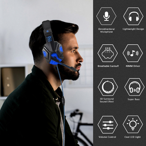 Image 4 - Professional Led Light Bass Gamer Wired Headset With Microphone For Switch PS4 Computer Gaming Over Ear Headphones For XBox PC
