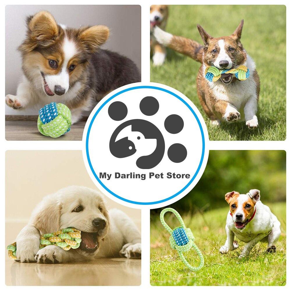 7 шт собака игрушки для больших собак мяч Зубная щётка интерактивные электронные игрушки Рождественский подарочный набор для жевательная игрушка для собак Игрушка аксессуары-4