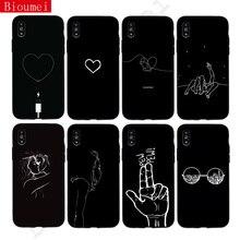 цена на Heart Love Monochrome Mood Soft TPU Case for Samsung Galaxy S10 Plus S10e S6 S7 Edge S8 S9 Plus Darkness Pew back cover Fundas