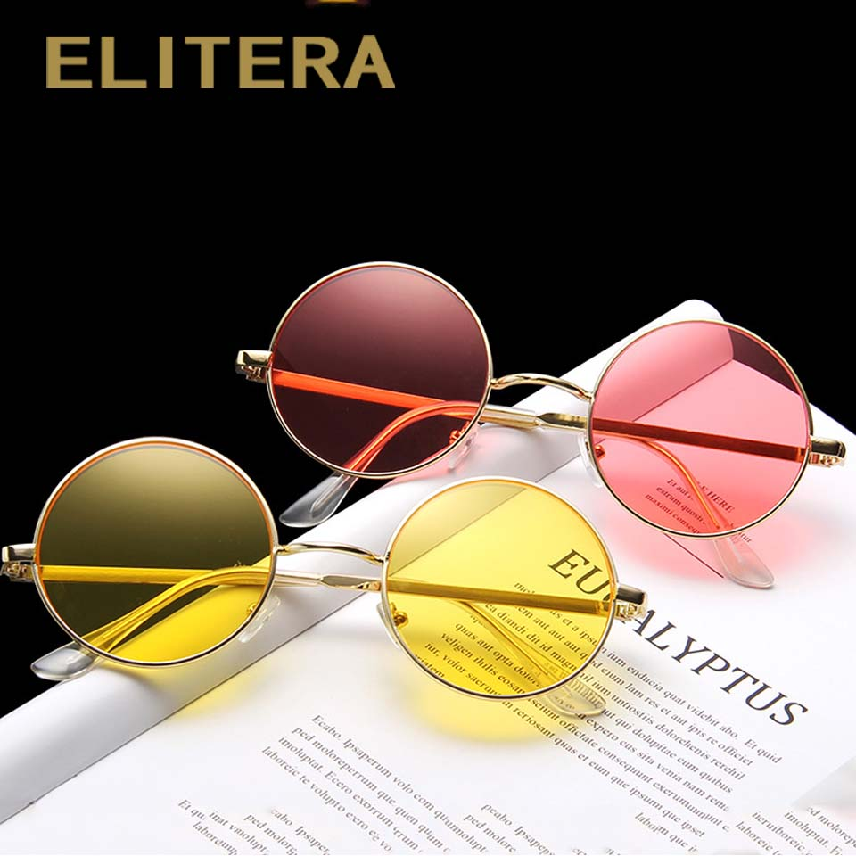 ELITERA New Vintage Men Women Round Metal Sunglasses UV400 Men's Glasses Classic Retro Brand Designlunette Soleil Ronde