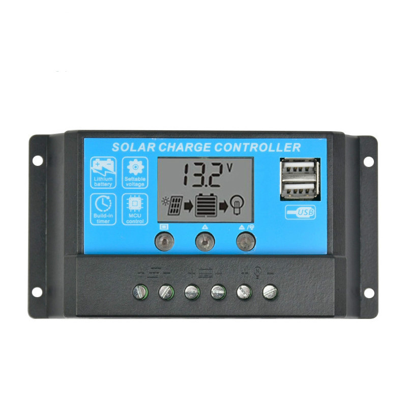 SUNYIMA 15A 12V 24V Auto Solar Charge Controller Regulator Controller PWM With LCD 5V Dual USB For Lead Acid Lithium Battery