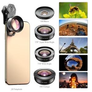 Image 2 - Apexel 5 em 1 kit lente da câmera do telefone profissional hd olho de peixe lente macro super grande angular para xiaomi redmi nota 5 pro iphone x 7 s
