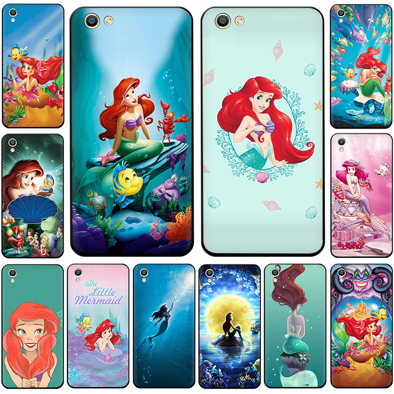 The Little Mermaid Princess Anime Fish Silicone phone <font><b>case</b></font> for <font><b>OPPO</b></font> R17 R15 F11 F9 Pro A77 R9s F9 F7 A73 A83 A59 <font><b>A39</b></font> A5 K3 K5 image