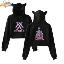Kpop groep MONSTA X JOOHEON I.M Sweatshirt Kat Oor Hoodies Hip Hop Casual Winter/Herfst Vrouwen Kleding monsta Sweatshirts(China)