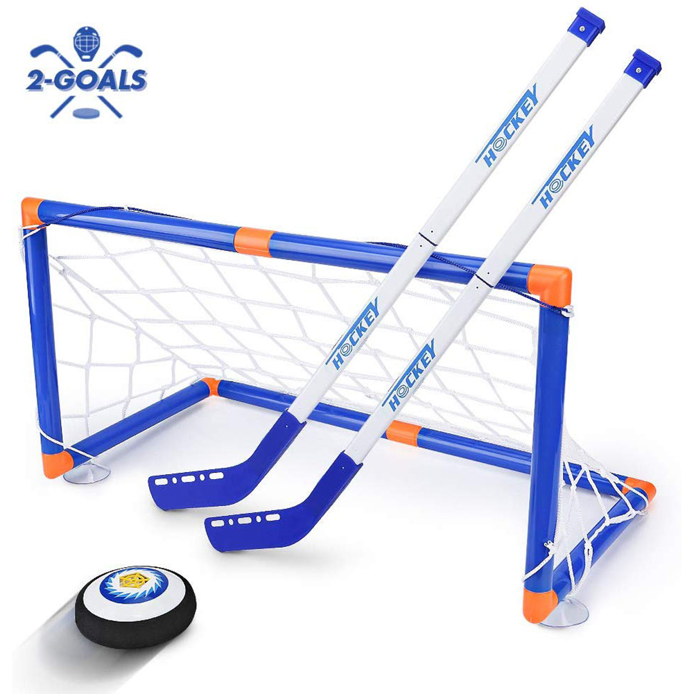 Interactive Sports Game Mini Intelligent Development Training Suspension Ball Children Toy Easy Install Electric Ice Hockey Set