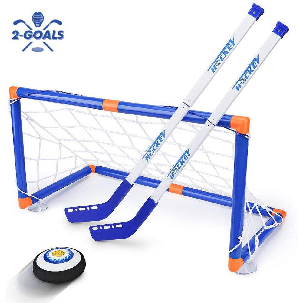 Interactive Sports Game Mini Intelligent Development Training Suspension Ball Children Toy Easy Install Electric Ice Hockey Set