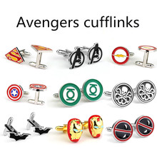 The Avengers Arrow Cufflinks Marvel Captain America Thor Batman Iron Man Deadpool Charm Personality Shirt Brand Cuff Button Gift the avengers arrow cufflinks marvel captain america thor batman iron man deadpool charm personality shirt brand cuff button gift