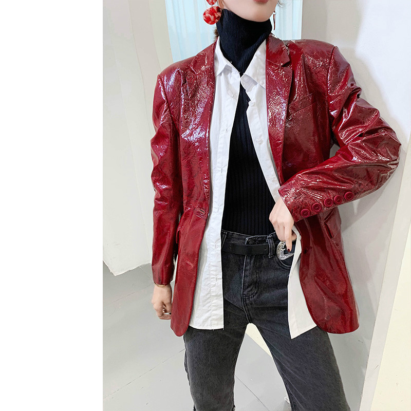 100% Natural Genuine Leather Jacket Women Spring Autumn Vintage Real Leather Windbreaker Female Korean Fashion Sheepskin Coat 35