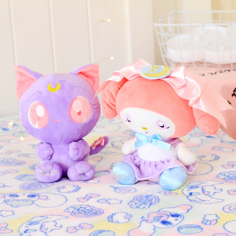 Pretty Girl Warrior Lura Luna Sanrio Melody Plush Doll Small Pendant Decoration Keychain