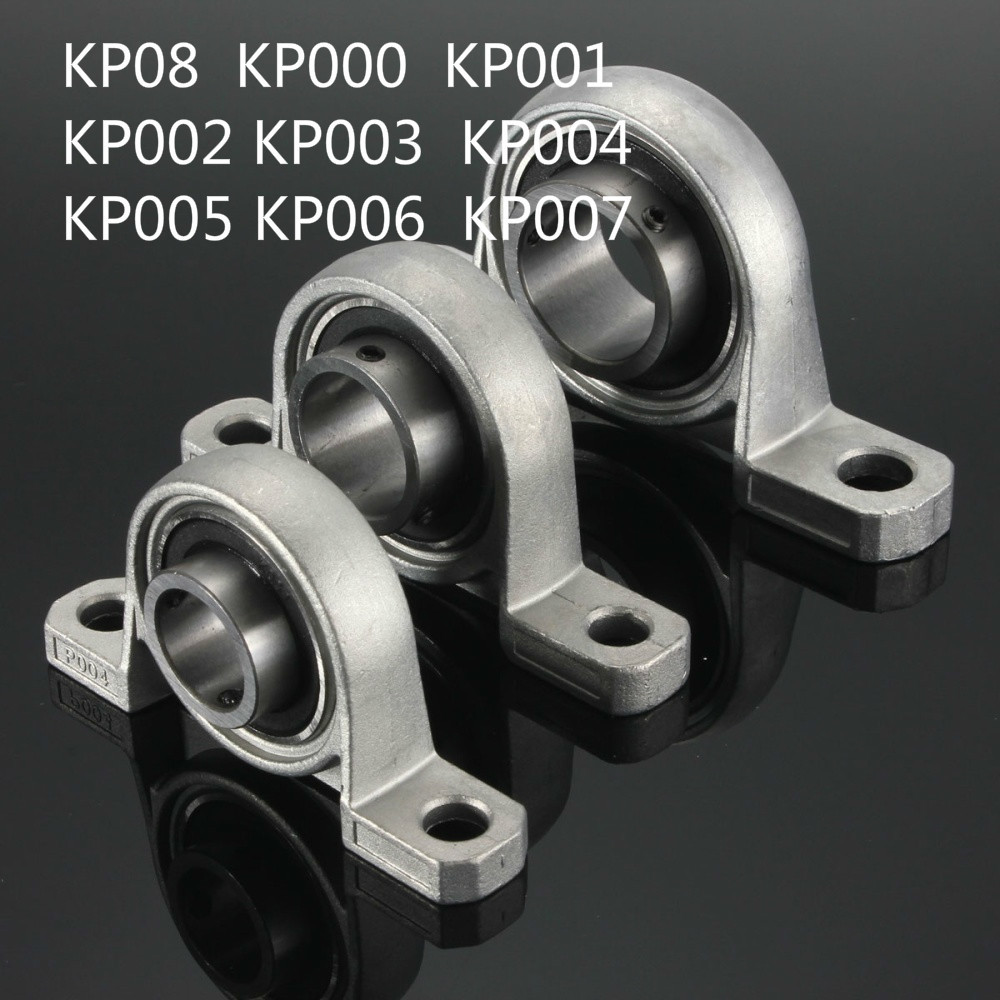 2Pcs 12mm Diameter Bore Ball Bearing Pillow Block Mounted Support KP001 HO 9H