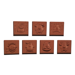 Image 3 - 2019 新 21 空洞クリスマス正方形ハードポリカーボネート金型チョコレート 3D