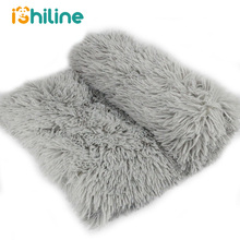 Long Plush Pet Dog Cat Bed Blankets Fluffy Mats Deep Sleeping Soft Summer Thin Covers for Large Dogs Solid Cats Mattress
