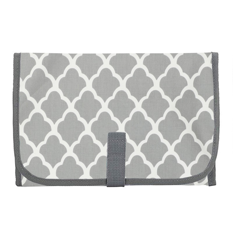 Cotton Waterproof Portable Changing Station For Newborn Baby Infant - Lightweight Travel Home Diaper Changer Mat With Pockets