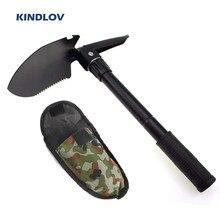 KINDLOV-Pala plegable portátil 4 en 1 para jardín, pala de acampada con sierra de brújula, paleta de emergencia para herramientas de supervivencia al aire libre