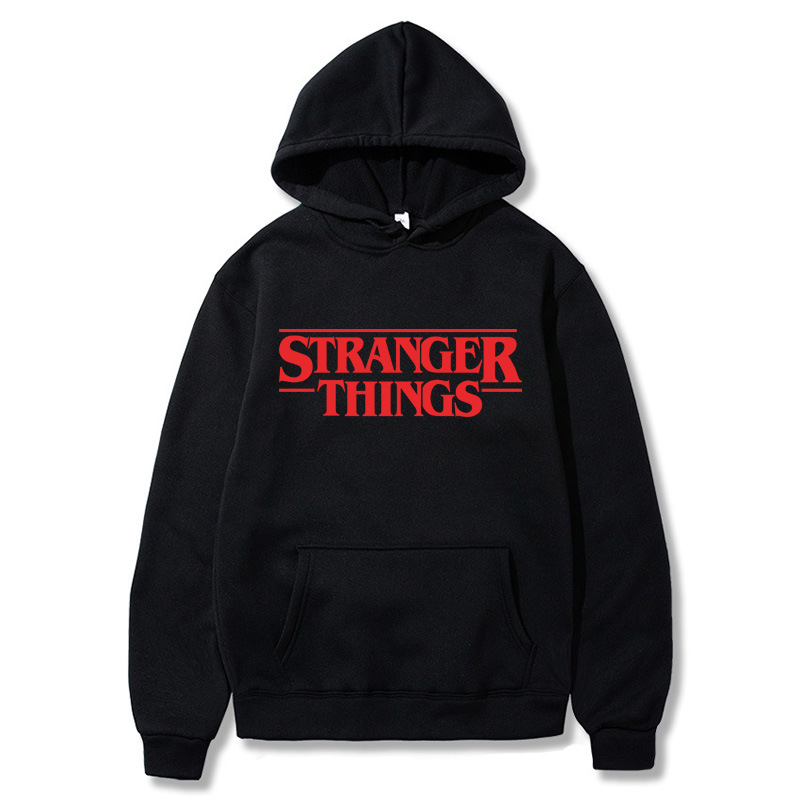 Trendy Faces Stranger Things Hooded Men Hoodies And Sweatshirts Oversized For Autumn Winter Hip Hop Streetwear Men Hoody