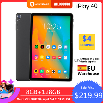 ALLDOCUBE iPlay 40 Tablet Android 10.0  2000*1200 IPS 8GB RAM 128G ROM One Cell Octa Core Tablet PC Dual 4G lte BT5.0 CPU T618 1