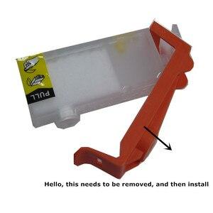 Image 3 - Refill PGI 580 cli 581 Empty refillable ink cartridge permanent chip For canon PIXMA TS705 TS6150 TS6250 TR7550 TR8550 TR9550C