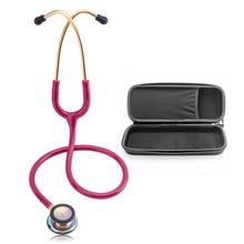 Professional Cardiology Stethoscope with Case Doctor Medical Equipment Portable Stethoscope Medical Device Nurse Stethoscope