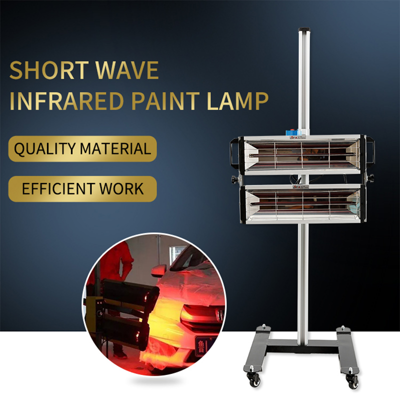 1000W/2000W Shortwave Paint Lamp Smart Timing Infrared Paint Dryer Light Car Paint Heater Baking Light Repair Accessories Tools